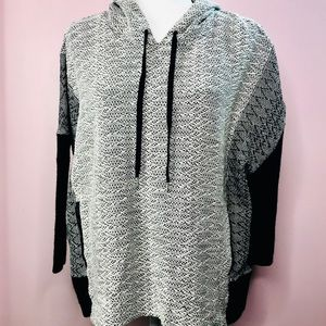 CLUB MONACO KNIT HOODED SWEATER